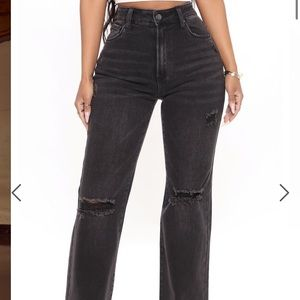 Longing For You Distressed Wide Leg Jean